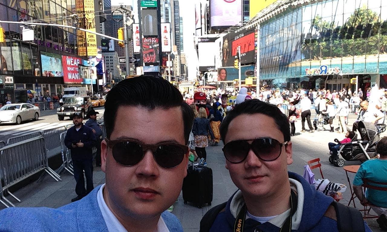 Michael & Tim van Splendeur in New York.