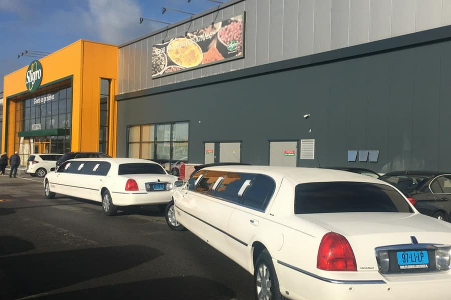 Lincoln Limousine Wit Lincoln limo huren