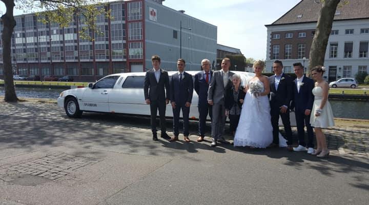 Bruiloft Bruiloft limousine